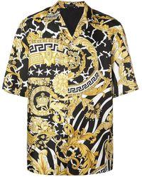 Versace Overhemd Met Barok Print - Zwart