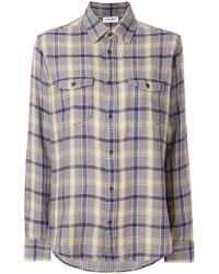 Saint Laurent - Oversized Checked Flannel Shirt - Lyst