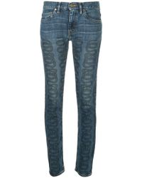 Hysteric Glamour - Swirl Print Jeans - Lyst