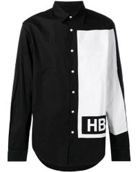 Hood By Air - Camisa de manga larga con panel en contraste - Lyst
