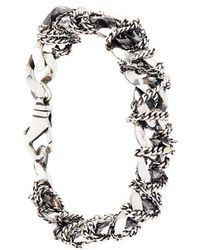 Emanuele Bicocchi - Interwined Chain Bracelet - Lyst