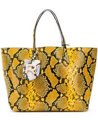 Rochas - Snake Effect Tote Bag - Lyst