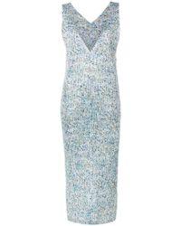 Pleats Please Issey Miyake - Kleid mit Farbklecks-Print - Lyst