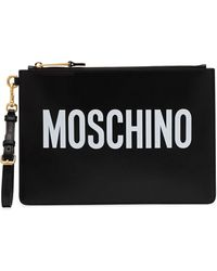 Moschino ロゴ ポーチ - ブラック