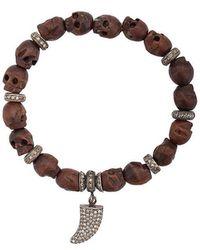 Loree Rodkin - Tooth Charm Beaded Bracelet - Lyst