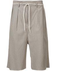 Maison Margiela - Bermuda Checked Shorts - Lyst