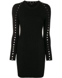 Alexander Wang - Embellished Fitted Mini Dress - Lyst