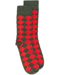 Stella McCartney - Diamond Pattern Socks - Lyst