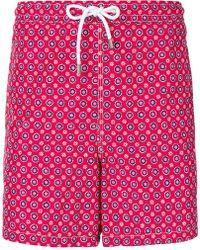 Kiton - Floral Print Swim Shorts - Lyst