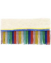 Sensi Studio - Woven Clutch With Beaded Fringing - Lyst