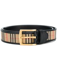 Burberry - Checked Belt - Lyst