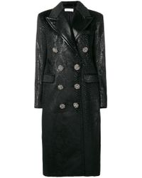 Faith Connexion - Double-breasted Snake Print Coat - Lyst