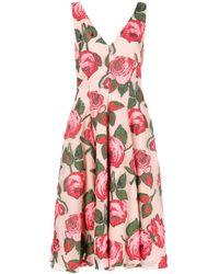 Lela Rose Robe mi-longue à fleurs