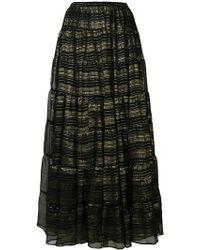 Mes Demoiselles - Metallic Detailed Maxi Skirt - Lyst