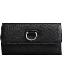 Burberry - D-ring Grainy Leather Continental Wallet - Lyst