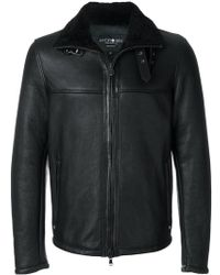 Hydrogen - Shearling Biker Jacket - Lyst