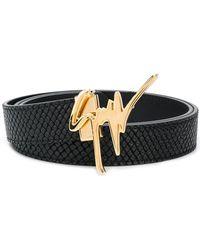 Giuseppe Zanotti - Logo Embellisged Belt - Lyst