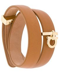 Ferragamo - Wrap-around Gancio Bracelet - Lyst