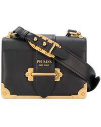 0a357571776e Prada - Borsa A Spalla 'cahier' - Lyst