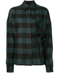 MM6 by Maison Martin Margiela - Oversized Checked Shirt - Lyst