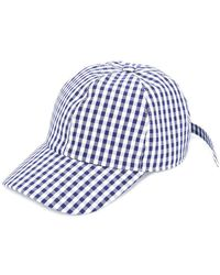 Federica Moretti - Gingham Panelled Cap - Lyst
