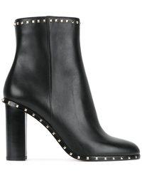 Valentino - Garavani Rockstud Ankle Boots - Lyst