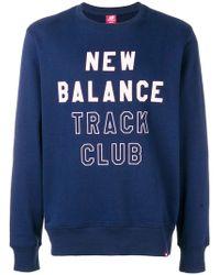 New Balance - Logo Print Sweatshirt - Lyst