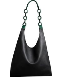 Burberry - Medium Two-tone Leather Shopper - Lyst