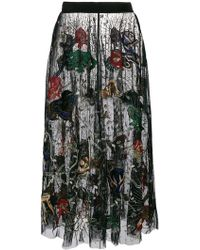 Amen - Embroidered Tulle Skirt - Lyst