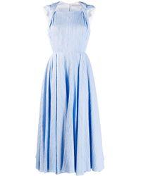 Emilia Wickstead - Vestido acampanado texturizado - Lyst