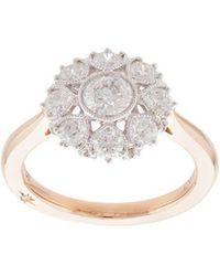 Marchesa - Anillo floral con diamantes en oro rosa de 18kt - Lyst