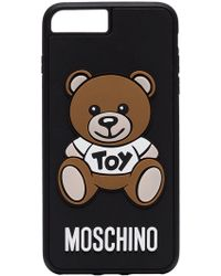 Moschino - Black, Brown And White Toy Bear Logo Iphone 8 Plus Case - Lyst
