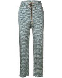 Peserico - Geometric Print Trousers - Lyst