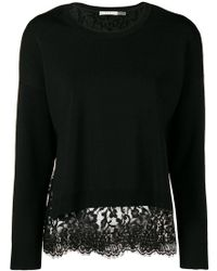 Alice + Olivia - Lace Trim Jumper - Lyst