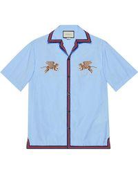 Gucci - Tiger Fil Coupé Bowling Shirt - Lyst