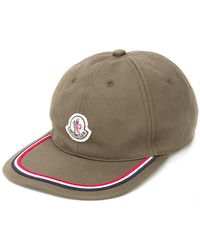87d15e57084 Lyst - Moncler Logo Patch Cap in White for Men