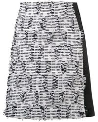 Karl Lagerfeld - Embroidered Fitted Skirt - Lyst