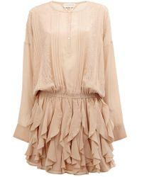 Faith Connexion - Lace Detail Ruffled Dress - Lyst