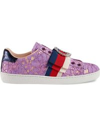 Gucci - Ace Lace Trainers - Lyst