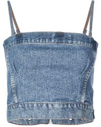 RE/DONE - Denim Top - Lyst