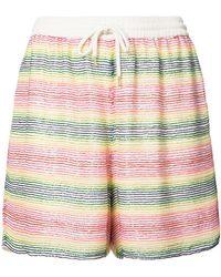 Ashish - Beaded Striped Shorts - Lyst