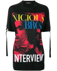 DSquared² - Vicious Bros T-shirt - Lyst