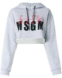 MSGM - X Diadora Branded Hoodie - Lyst