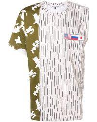 Gosha Rubchinskiy - Camiseta con mangas asimétricas - Lyst