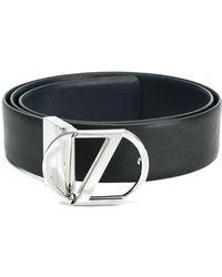 Z Zegna - Classic Buckled Belt - Lyst
