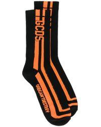 Gcds - Contrast Logo Socks - Lyst