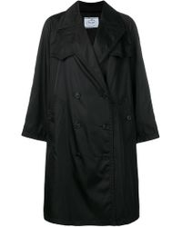 Prada - Oversized Double Breasted Trench Coat - Lyst