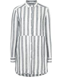 Venroy - Striped Shirt Dress - Lyst