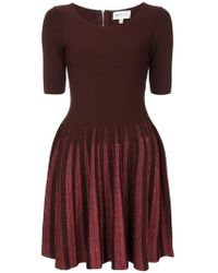 MILLY - Flared Fitted Dress - Lyst