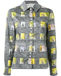 Olympia Le-Tan - Patchwork Patterned Shirt - Lyst